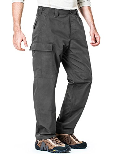 CQ-UBP01-CHC_XL/Regular CQR Men's ACU / BDU Rip Stop Trouser EDC Tactical Combat Pants UAP01 / - Men Edc