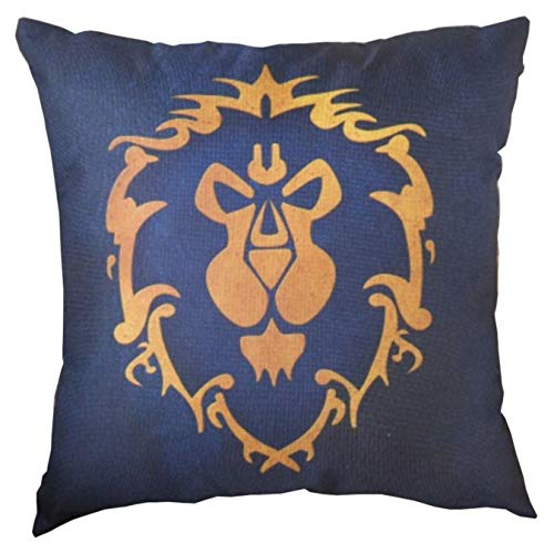 Magabee World of Warcraft Cushion Cover (Blue) (Without Cushions)