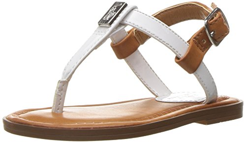 Polo Ralph Lauren Kids Girls' Gala Sandal, White, 8 M US - Girls Lauren For Polo Ralph