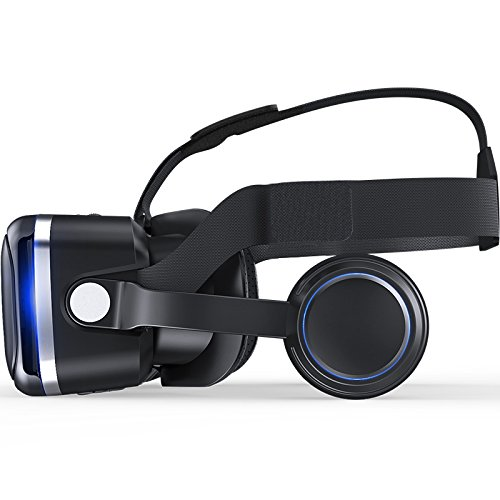 VR SHINECON 6.0 VR headset version virtual reality glasses Stereo headphones 3D glasses headset helmets Support 4.7-6.0 inch large screen smartphone (With controller SC-RA8) by VR SHINECON (Image #1)