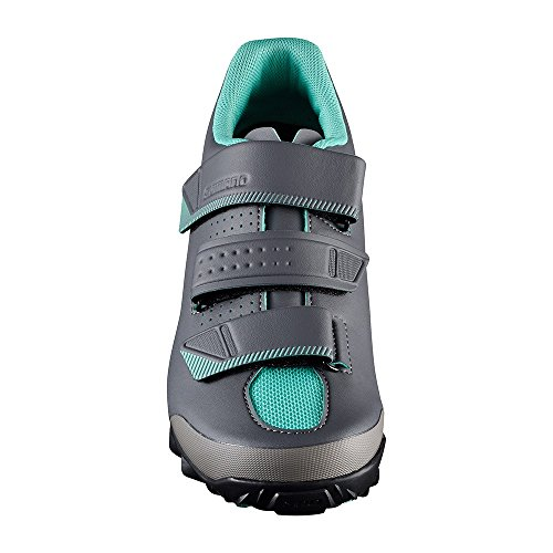 Green Strap Women's Black Cycling Shimano Three SPD Mountain Enduro Shoes w4BvvzqAIn