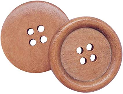 10 Reddish Brown coloured 4 hole Wooden Sewing Buttons 30mm Great Value Free P/&P