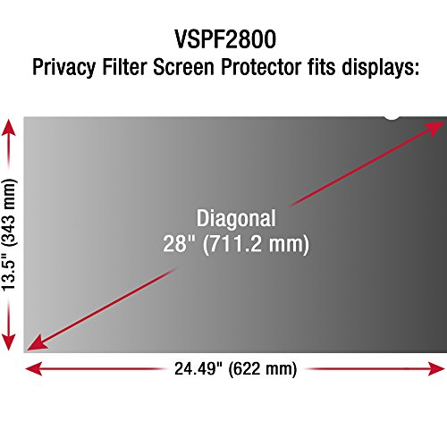 "Tech Armor Universal Privacy Filter for 28"" LED Computer Desktop Monitor, Compatible with Viewsonic, Dell, HP, Samsung and More [1-Pack] by Tech Armor (Image #1)"