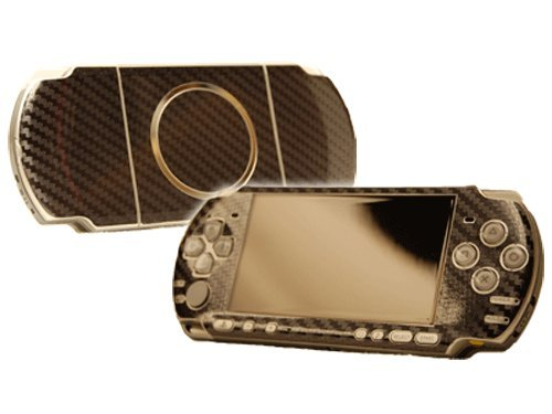 table 3000 (PSP-3000) Skin - NEW - CARBON FIBER system skins faceplate decal mod ()
