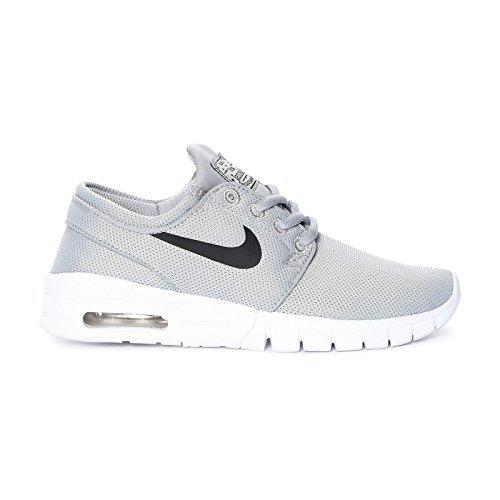 Nike Jungen Sweatshirt YA76gebürstetem Fleece Crew Long Sleeve Wolf Grey/Black/White