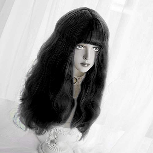 Long Wavy Wig Bangs Synthetic product image