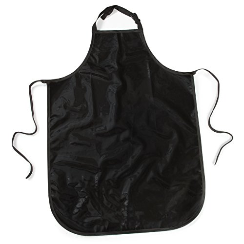 (Top Performance Value Grooming Aprons - Economical Vinyl-Coated Aprons for Professional and Amateur Groomers, Black)