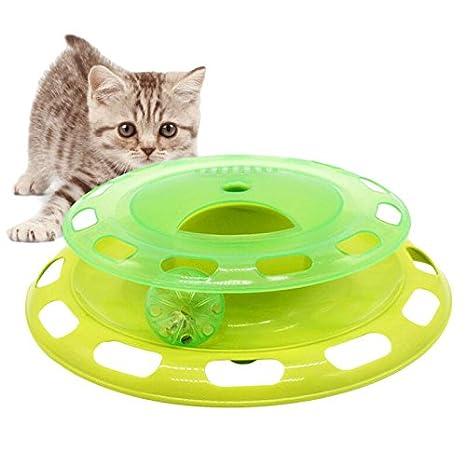Juguete para Gato, Legendog Cat Ball Toy Juguete Cautivo Giratorio Interactivo Cat Cat Toy bon Ranura para golosinas: Amazon.es: Productos para mascotas