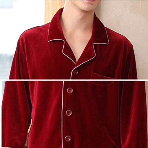 Da Pezzi Grigio Top Moda Set Del Comodo Classiche E Pantaloni Lungo Primavera Uomo Homewear Ragazzi Due Estate Pigiama 0qdUw0
