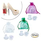 High Heel Protectors Three Sizes 6pairs Clear Heel Stoppers Small/Medium/Large High Heel Covers Walk In Grass For Outdoor Wedding High Heel Guards