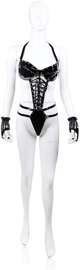 No logo JF-Xuan muñeca, Adulta Atractiva tentación de formación Cinturón Negro Guantes Ropa Interior del Club Nocturno Vestir Fiesta Eficiencia Ropa Binding Presente