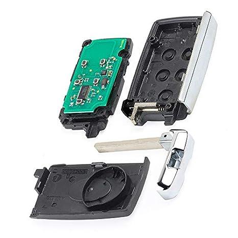Keyecu Modified Smart Remote Car Key Fob 433MHz for Land Rover LR2 LR4 2012-2015,Range Rover Evoque//Sport