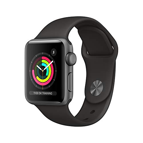Apple Watch Series 3 (GPS, 38mm) – Space Grey Aluminum Case with Black Sport Band