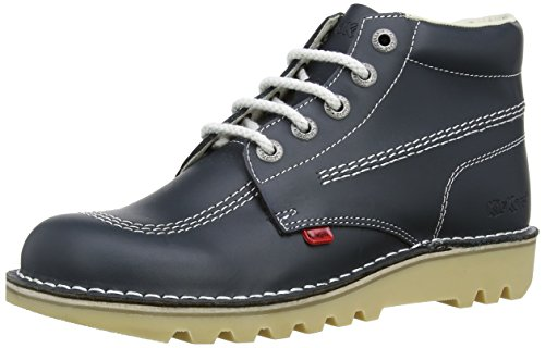 Kickers Mens Kick Hi Core Navy/Natural Leather Boots-UK 10 - Kickers Shoes Boots