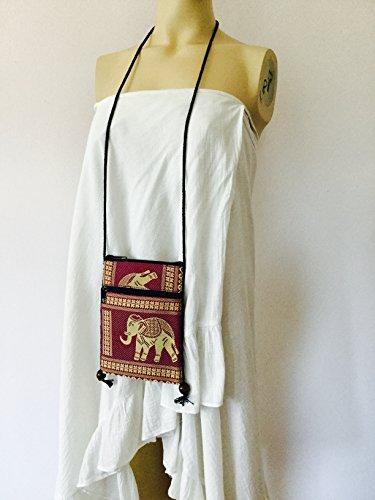 Cp1 Elephant BTP Case Black Bag Hill Hmong Tribal Pouch Passport Travel Cellphone Shoulder Single Bag Mini Crossbody Holder xr4Unwrq