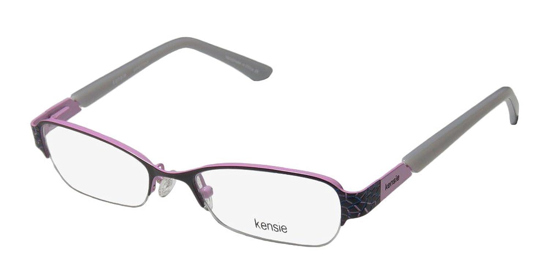 Kensie Ambitious Womens/Ladies Rx Ready Designer Half-rim Spring Hinges Eyeglasses/Eyewear
