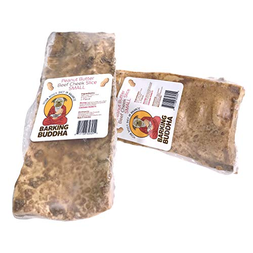 Barking Buddha Beef Cheek Slices – Extra Thick – All Natural – No Additives Gluten Free – Premium Dog Chews (Peanut…