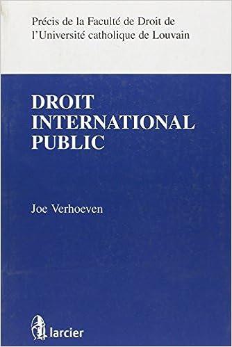 Le droit international public pdf