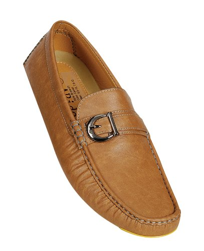 Arider BRUCE-01 Men's Syntheric PU Low-Top fashion-sneakers Shoes- CAMEL W/ YELLOW SOLE, Size 7.5