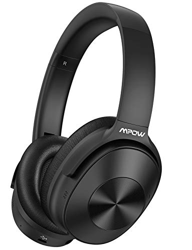 Mpow Hybrid Active Noise Cancelling Headphones, Bluetooth Headphones Over Ear [2019 Version] with Hi-Fi Deep Bass, CVC 6.0 Microphone, Soft Protein Earpads, Wireless Headphones for TV Travel Work