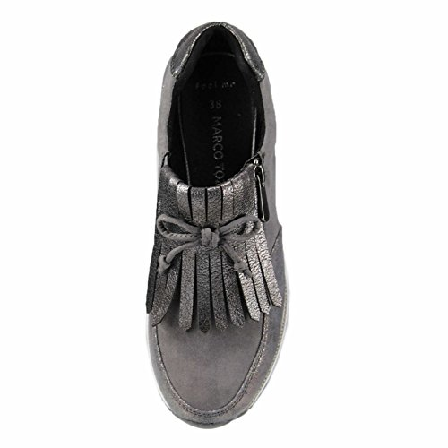Marco Tozzi Women's 2-2-24702-21 225 Slip on Trainers Grey (Dk.grey Comb 225) iPcEv