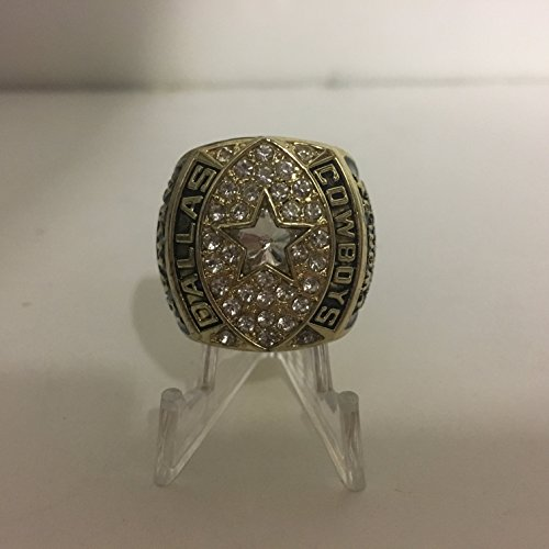 1992 Troy Aikman Dallas Cowboys High Quality Replica Super Bowl XXVII Ring-Gold/Black Colored Size 11
