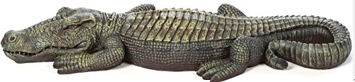 Crocodile Garden Statue- The Swamp Beast Statue Is a Perfect Garden Art- This Outdoor Animal Statue Is Handpainted, You Can Place This in Your Patio, Backyard, Lawn- A Beautiful Decor! by Design Toscano (Image #3)