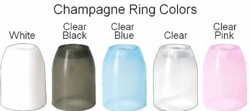 Clear L-Style Plastic Champagne Rings for L-Style Champagne Dart Flights - Dart Brokers tips case