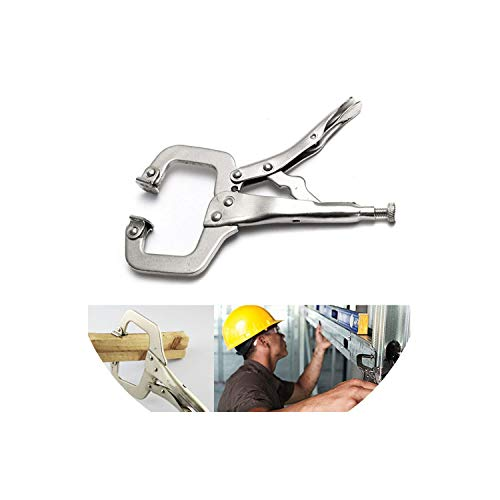 C Clamp Weld Clip Woodwork Fix Plier Pincer Tong Pad Wood Work Alloy Steel Hand Tool Tenon Locator Grip Vise Lock Jaw Swivel,As Picture