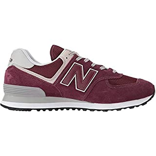 New Balance ML574EGK 574 Sneaker Shoes burgundy/gray/white, EU Shoe Size:43 EU
