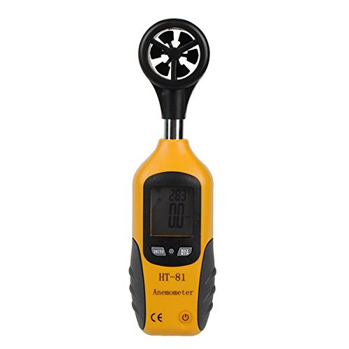 HT-81 LCD Pocket Digital Anemometer Wind Speed Measure & Thermometer