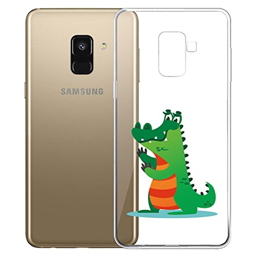 Funda para Samsung Galaxy A8 2018 (SM-A530) , IJIA Transparente Love Pony TPU Silicona Suave Cover Tapa Caso Parachoques Carcasa Cubierta para Samsung Galaxy A8 2018 (5.6) WM129