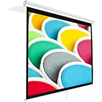 Pyle PRJSM7206 Universal 72-Inch Roll-Down Pull-Down Manual Projection Screen (42.5 x 56.6) Matte White
