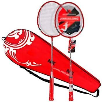 ホームバドミントンラケットセット、ファミリーレジャースポーツ デイリートレーニング 耐久性に優れ ラケット* 2