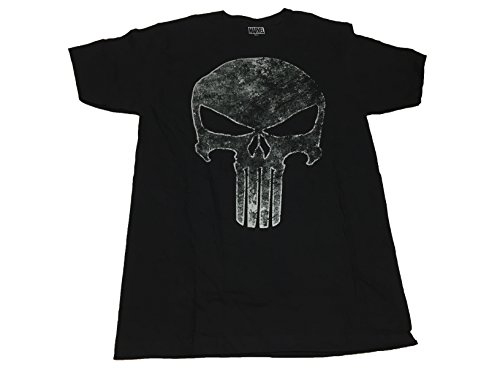 Marvel+Comics+Retro+Shirt Products : Marvel Comics The Punisher Faded Silver Skull Logo T Shirt