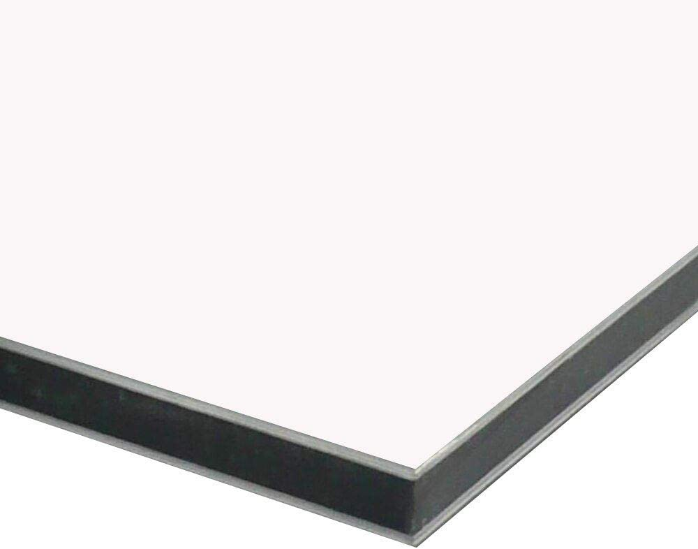 """3mm x 12 inches x 24 inches Gloss Black 0.118/"""" Aluminum Composite Sheet"""