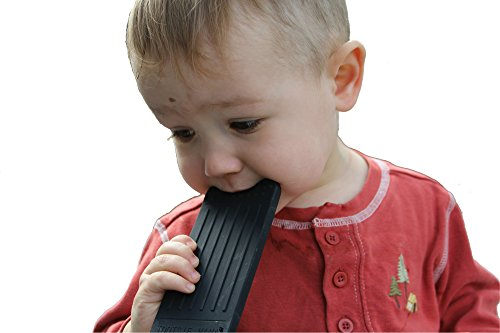 ''Chew This Instead'' iPhone Shaped Baby Teething Toy, Black - Safe for Infants and Toddlers, Soft Silicone BPA Free by Tootsie Mama by Tootsie Mama