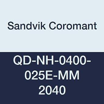 QD-NH-0400-025E-MM 2040 Ti C,N CoroMill QD Insert for Grooving Neutral Cut Sandvik Coromant Carbide +Al2O3+TiN 2040 Grade