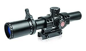 TRUGLO TRU-BRITE 30 Series 1-6 X 24mm Dual-Color Illuminated-Reticle Rifle Scope with Mount