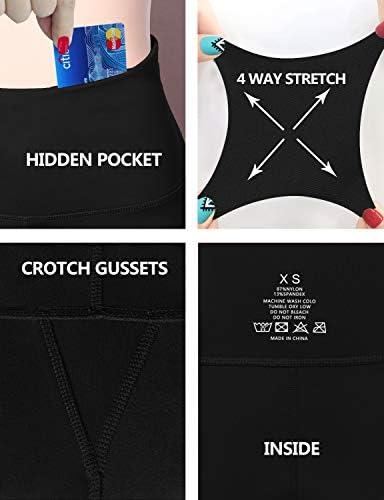 "BUBBLELIME 29""/31""/33""/35"" 4 Styles Women Bootcut Yoga Pants Basic/Back Pocket/Straight Leg Soft Workout Flare Tummy Control 5"