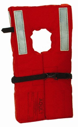 Kent Commercial Type I Collar Style Life Jacket, Adult Over 75 Pounds, Orange ()