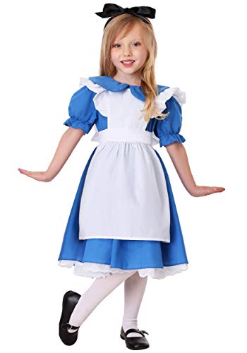 Deluxe Toddler Alice in Wonderland Costume Alice in Wonderland Dress for Girls 4T Blue -
