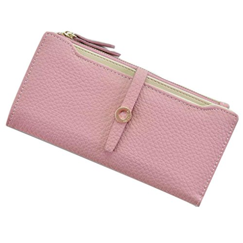 YJYDADA Wallet Holder,Fashion Pumping Belt Buckles Long Style Lady's Purse Wallet Card Bag (Hot Pink)