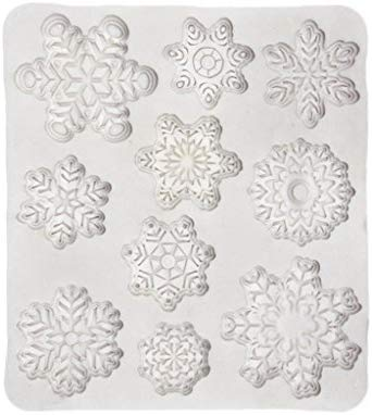 Baoblaze - Molde de silicona para tartas, copos de nieve, arcilla ...