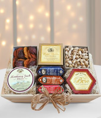 Gourmet Sampler Gift Box - Same Day Gourmet Chocolate & Snack Basket Delivery - Gourmet Gift Baskets - Snack Gift Baskets - Gourmet Chocolate Gift Baskets - Chocolate Food Gift Baskets