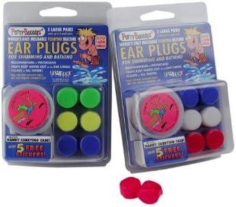 Swim Ear Plugs Putty Buddies Flo-Tek Putty Silicone Floating Ear Band-it 3 Pairs