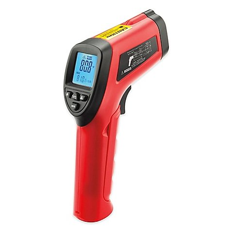 9V Maverick Infrared Laser BBQ Surface Thermometer, Measures Temperature Without Contact, Ideal for Outdoor Grilling Barbecue, Indoor Cooking, 5 Meters Away Accuracy, 7