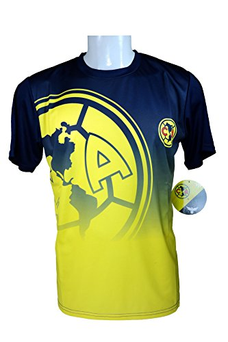 Football America Adult Football (Club America Soccer Official Adult Soccer Training Performance Poly Jersey -J003 Large)