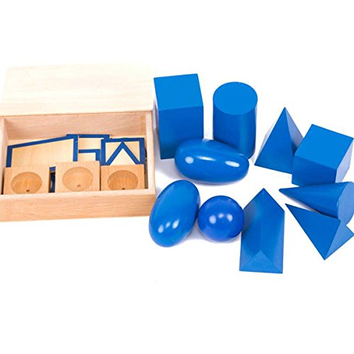Fly whale Montessori Early Education Material Geometric Solid Set Sensory Toys Wooden Early Development Tool For Toddler