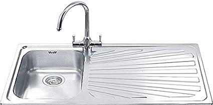 Smeg Sp101d Serie Classica Lavello Da Incasso In Acciaio Inox Satinato Con 1 Vasca Dimensioni 101 X 50 Cm Amazon It Fai Da Te